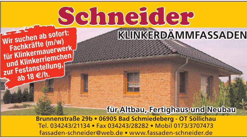 Schneider Klinkerdämmfassaden