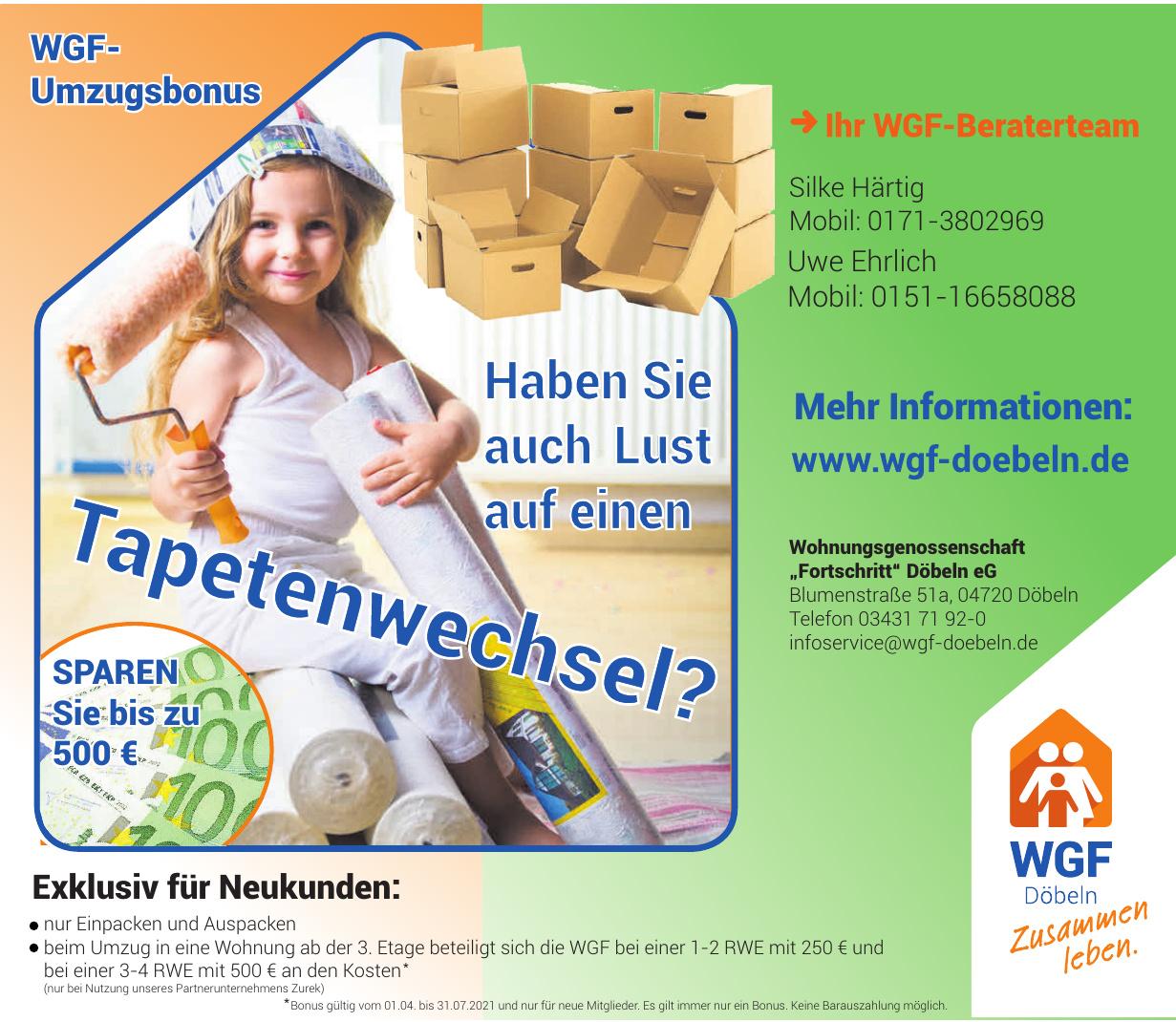 "Wohnungsgenossenschaft ""Fortschritt"" Döbeln eG"