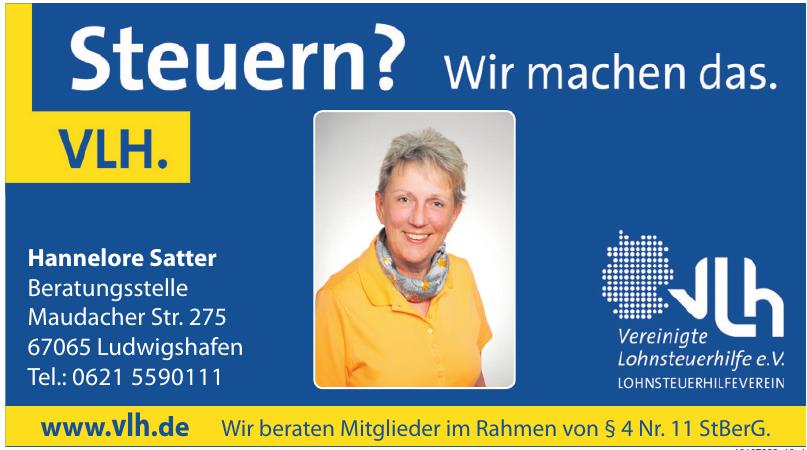 Vereinigte Lohnsteuerhilfe e.V. - Hannelore Satter Beratungsstelle