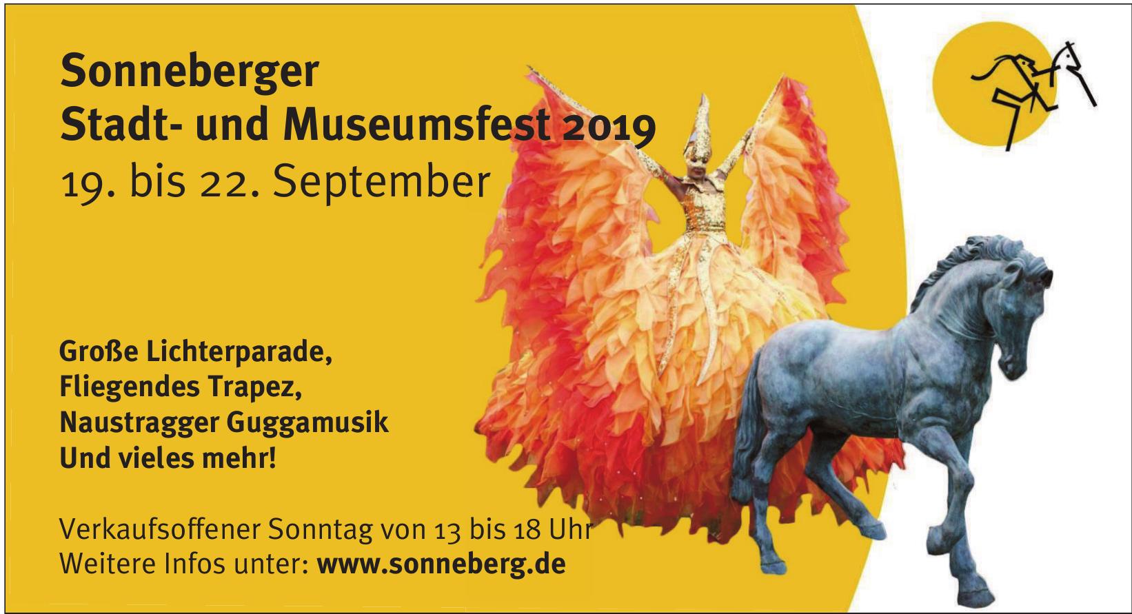 Sonneberger Stadt- und Museumsfest 2019