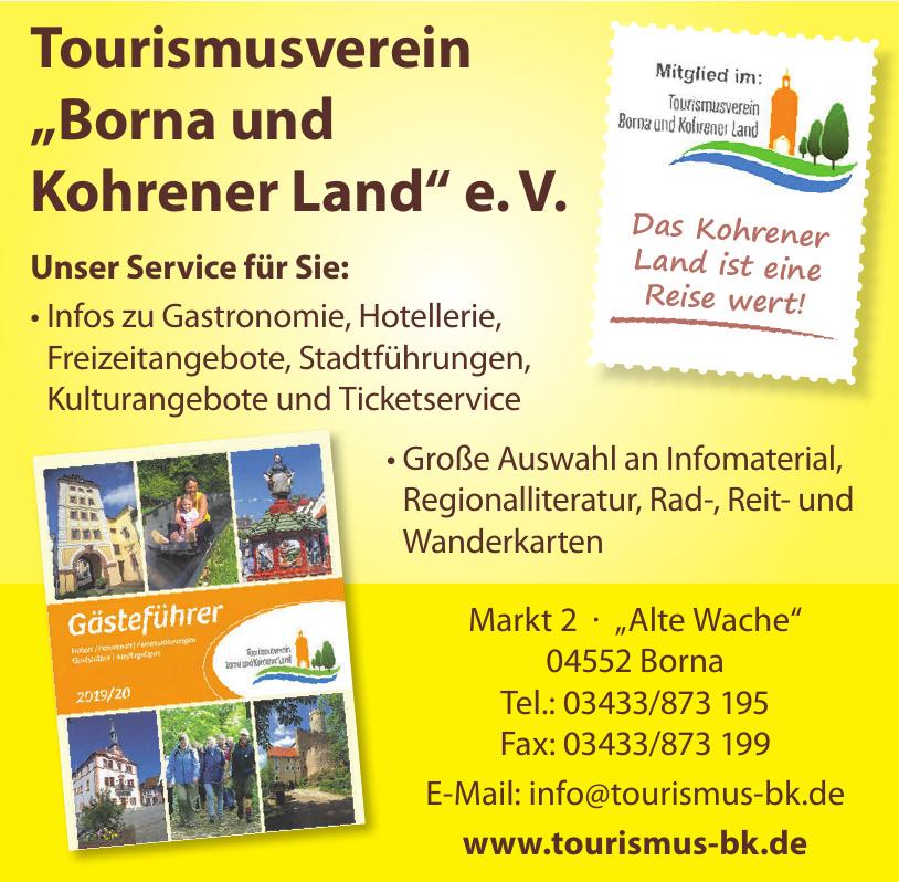 """Tourismusverein """"Borna und Kohrener Land"""" e. V."""