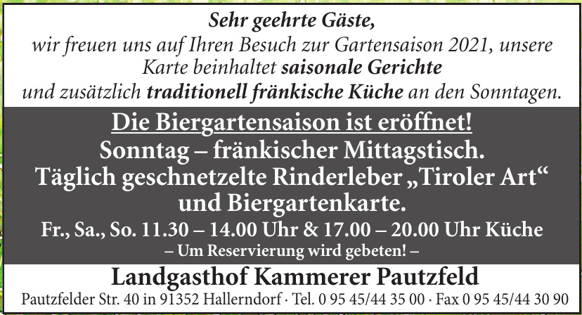 Landgasthof Kammerer Pautzfeld