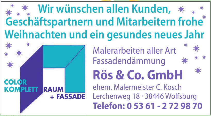 Malerarbeiten aller Art Fassadendämmung Rös & Co. GmbH