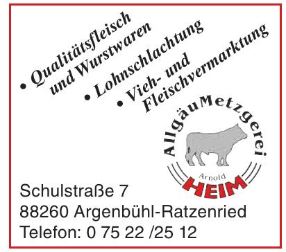 Allgäu Metzgerei Heim