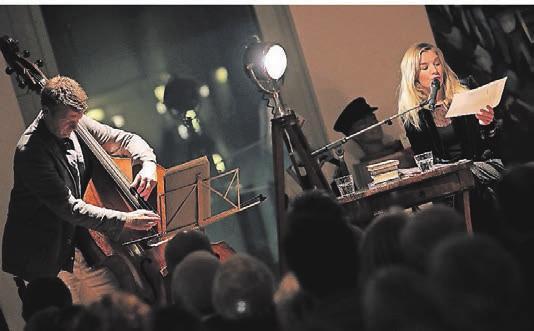 Schauspielerin Katharina Pütter und Jazz-Kontrabassist Martin Wind spielen und lesen am 21. Mai bei Bülles¬– Der Küchenmacher