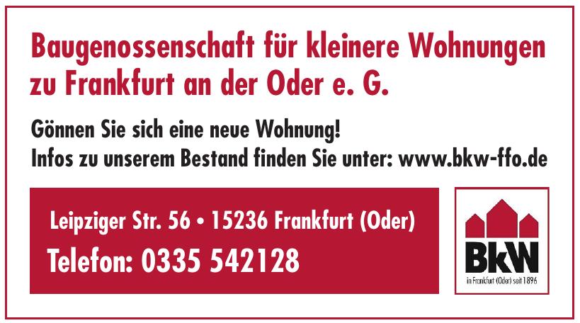 Baugenossenschaft für kleinere Wohnungen zu Frankfurt an der Oder e. G.