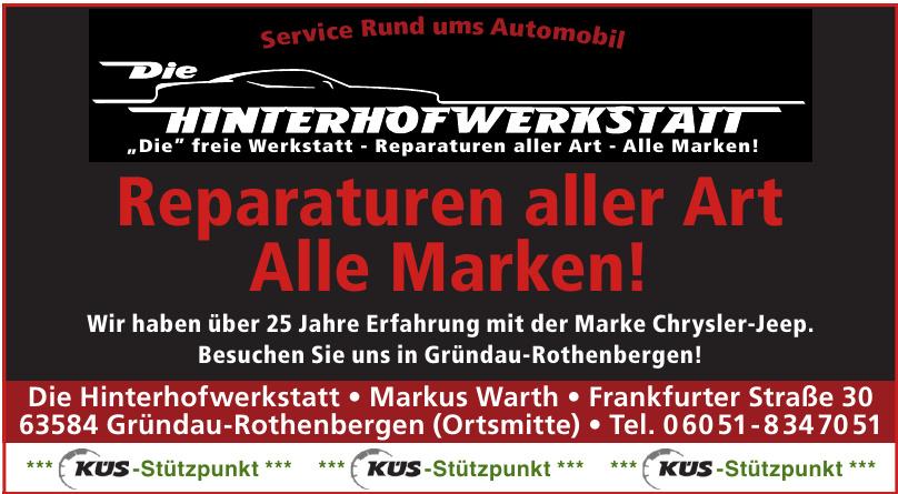 Die Hinterhofwerkstatt  Markus Warth