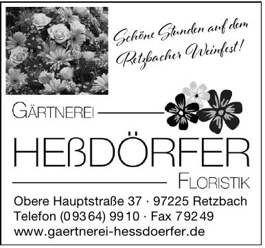 Gärtnerei Floristik Heßdörfer