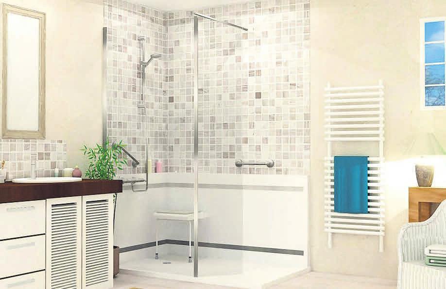 Gieske Baderaumsysteme hat die perfekte Lösung: In nur einem Tag zum barrierefreien Bad.