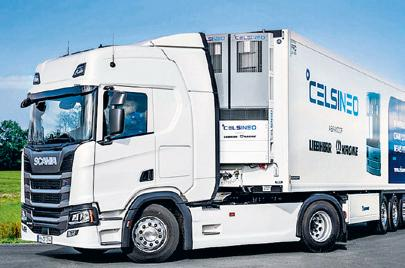 A new generation of refrigeration systems: Celsineo offers the most dependable and at the same time economical refrigerated transport.