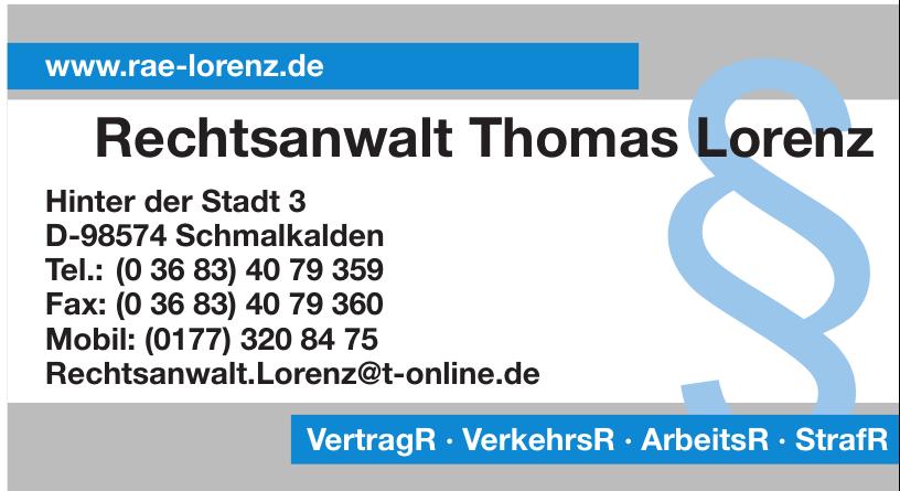 Rechtsanwalt Thomas Lorenz