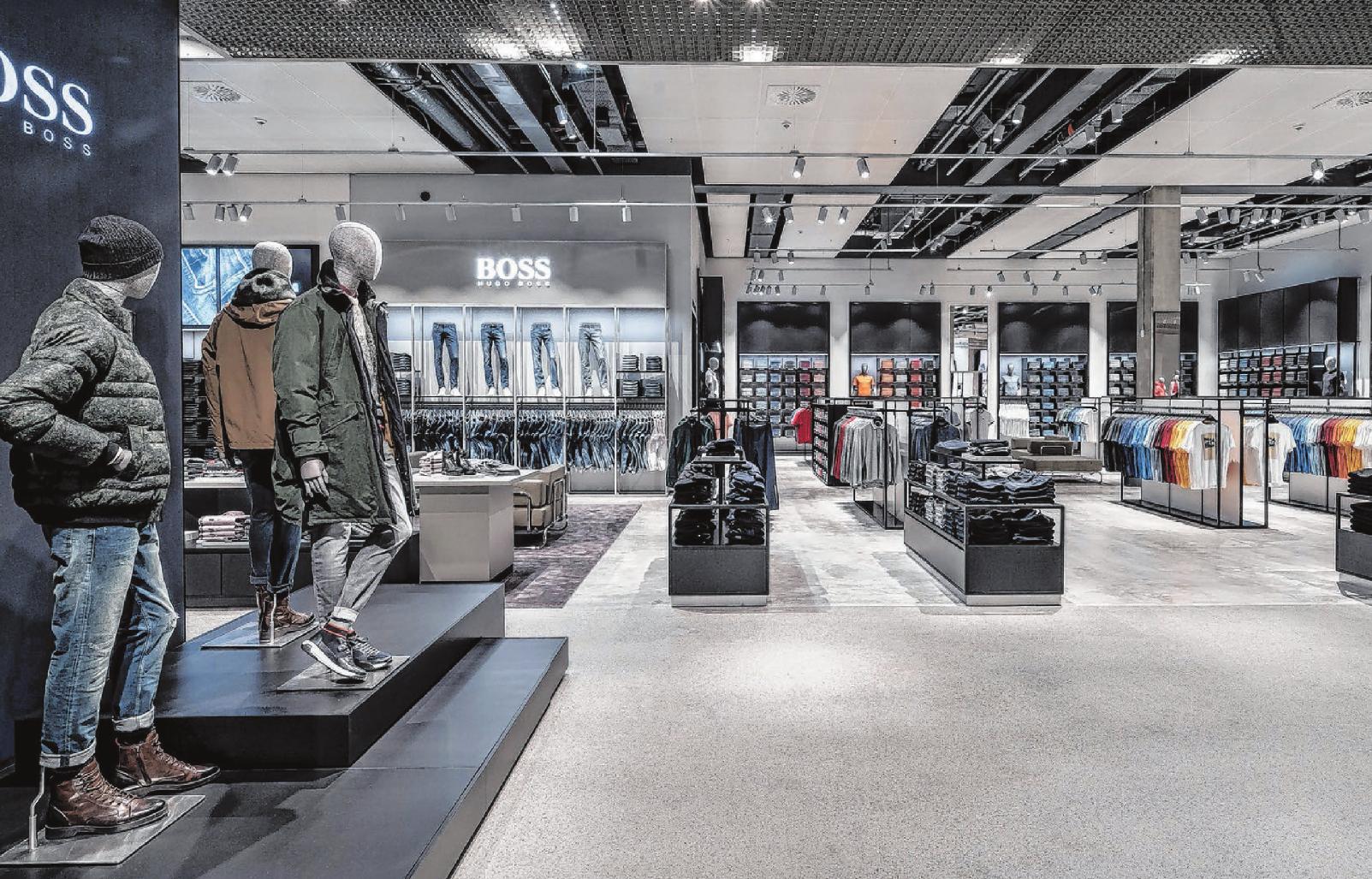 Durchdachte Gestaltung und schön anzuschauen: Das Unternehmen Hugo Boss nimmt eine Vorreiterrolle auf dem Gebiet der nachhaltigen Store-Planung in Europa ein. Fotos: Hugo Boss AG