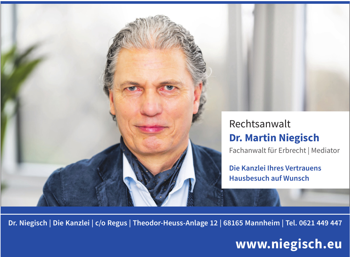 Rechtsanwalt Dr. Martin Niegisch