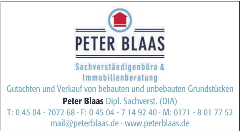 Peter Blaas Sachverständigenbüro & Immobilienberatung