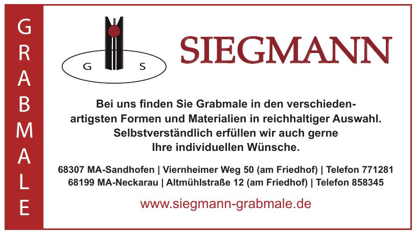 Siegmann Grabmale
