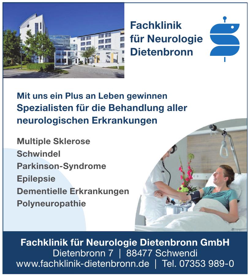Fachklinik für Neurologie Dietenbronn GmbH