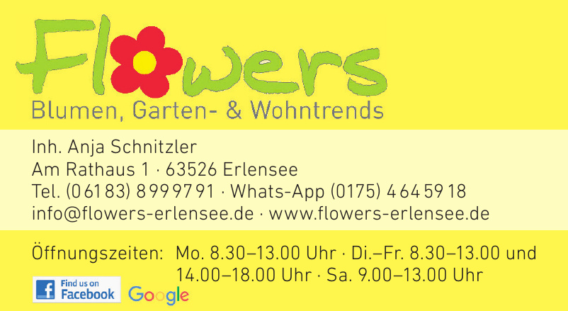 Flowers Blumen, Garten- & Wohntrends