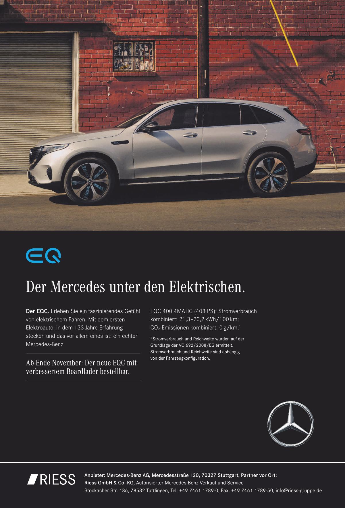 Der Eqc Eine Testfahrt Wird Elektrisch Tuttlingen Schwabische Zeitung