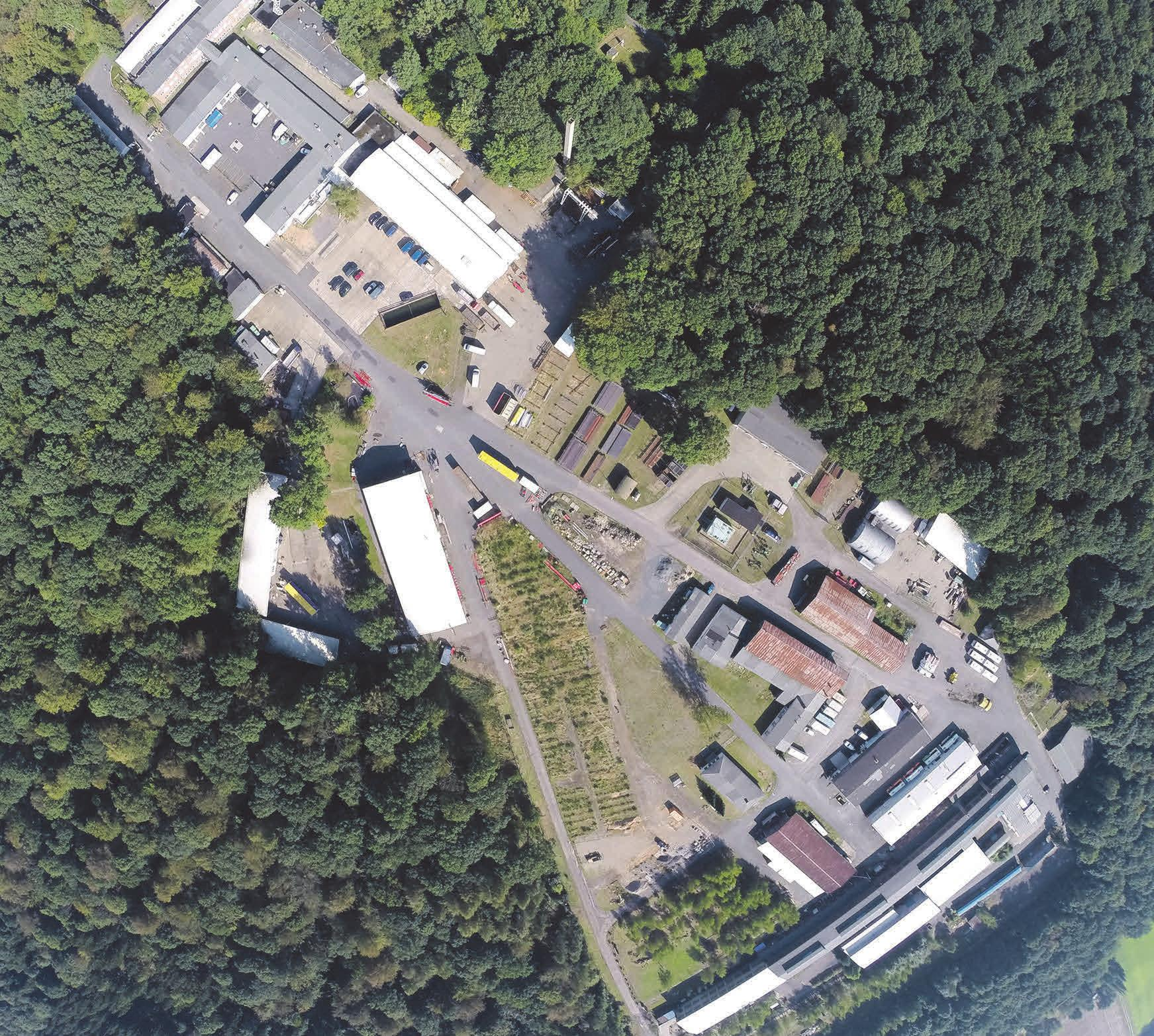 Der weitläufige Gewerbepark Berkhöpen bietet viel Platz zum Arbeiten und für ein Sommerfest.