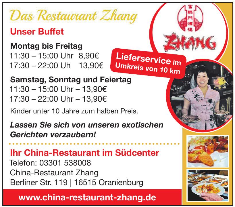 Das Restaurant Zhang
