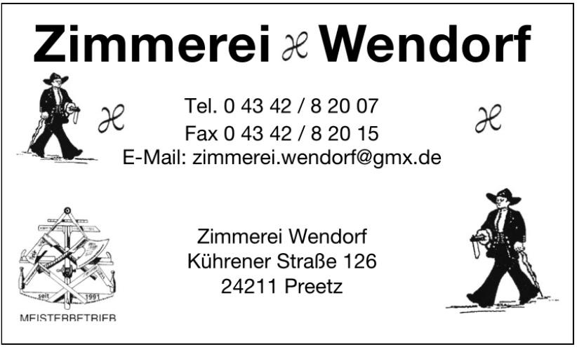 Zimmerei Wendorf