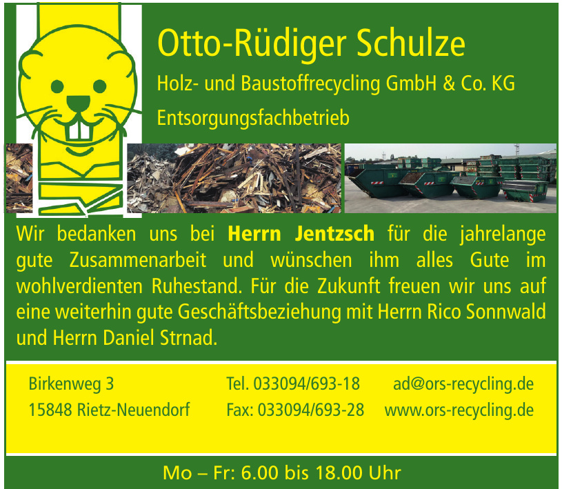 Holz- und Baustoffrecycling GmbH & Co. KG Entsorgungsfachbetrieb
