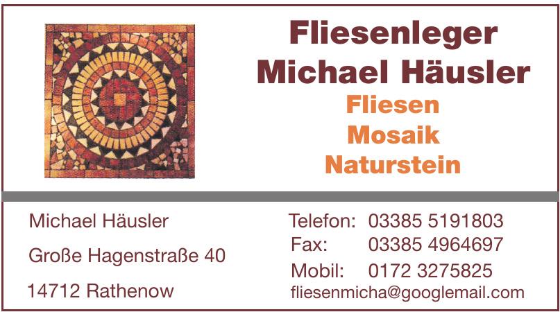 Fliesenleger Michael Häusler