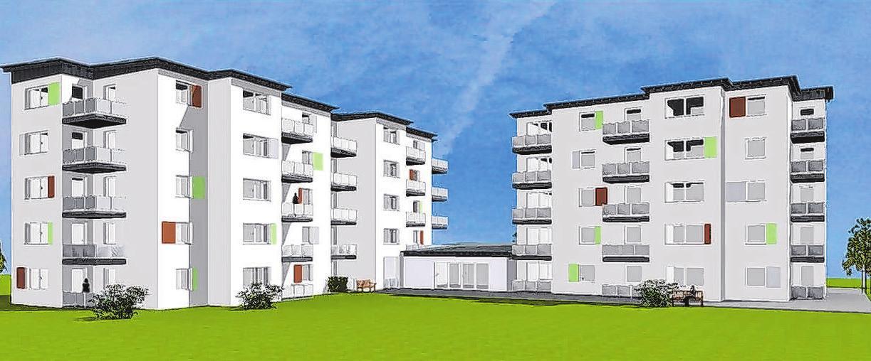 Blick auf die Planung: So wird die Wohnparkanlage in wenigen Monaten aussehen. Foto: Alexander Wolf