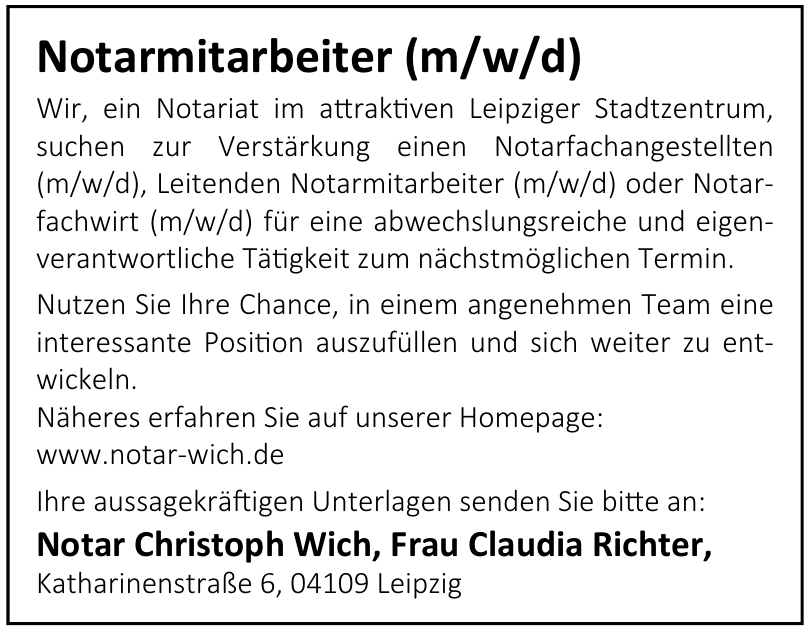 Notar Christoph Wich