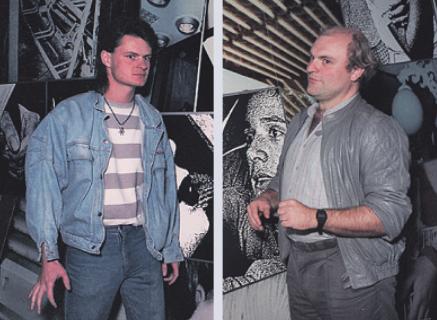Stefan Worring (l.) und Wolfgang Zurborn im Jahr 1987