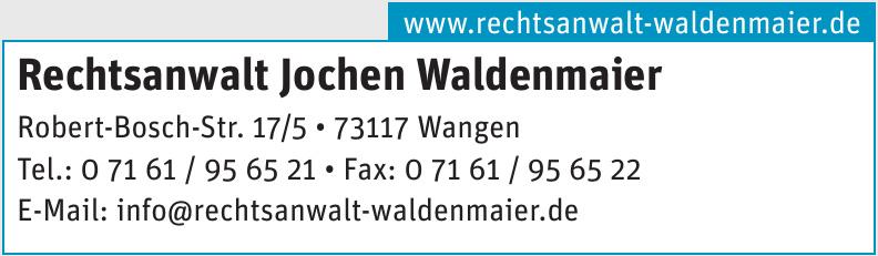 Rechtsanwalt Jochen Waldenmaier
