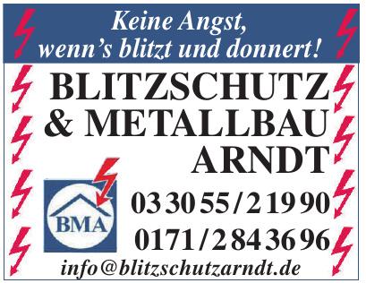 Blitzschutz und Metallbau Arndt