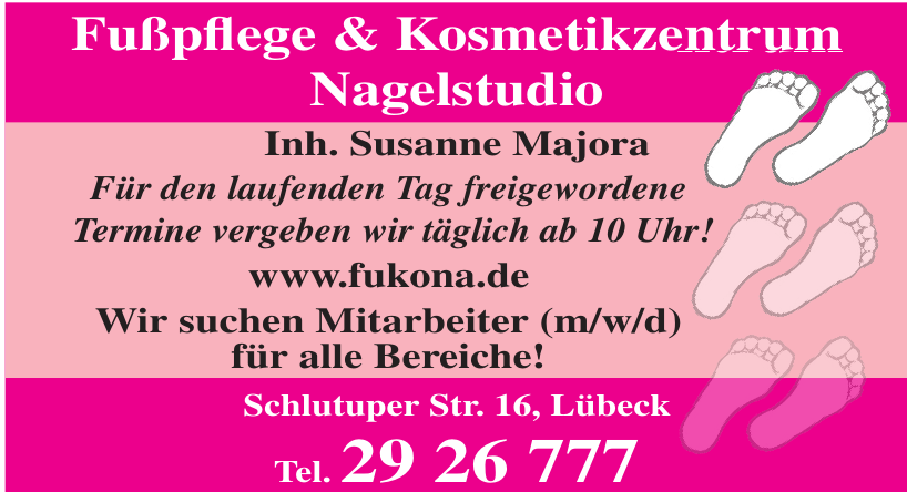 Fußpflege & Kosmetikzentrum Nagelstudio