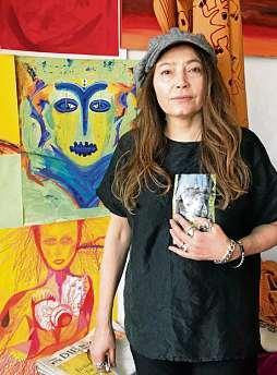Belhe Zaimoglu malt Ihre Bilder unter dem Namen Belruby. FOTO: KIRSTEN NIEMANN