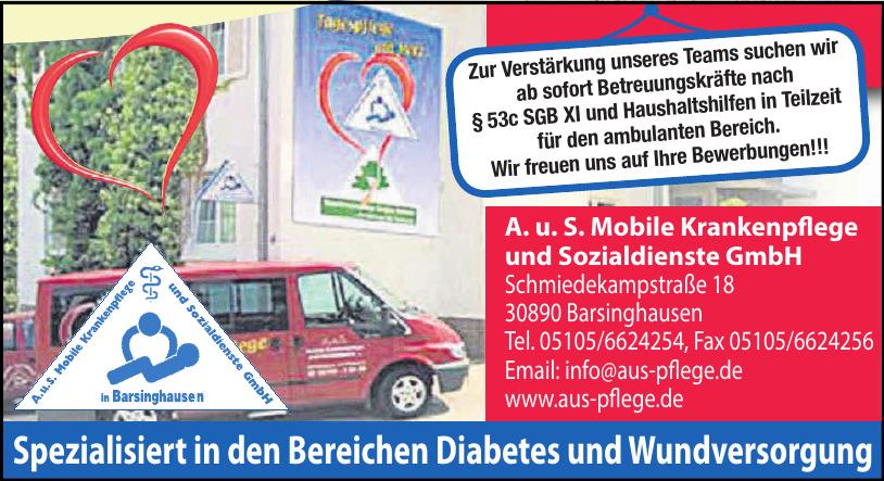 A. u. S. Mobile Krankenpflege und Sozialdienste GmbH