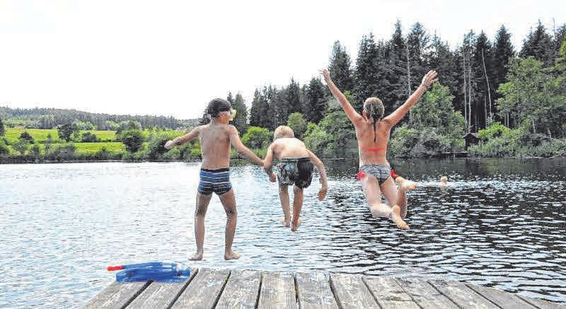 """AUSFLUGS-/BADETIPP: Der """"Hoki-See"""" bei Hoßkirch ist ein sehr beliebtes, bewirtetes Naturfreibad. Im Moment gelten noch Corona-Regeln. Kontakt: Tel. 07587/631. Foto: Schwegler"""