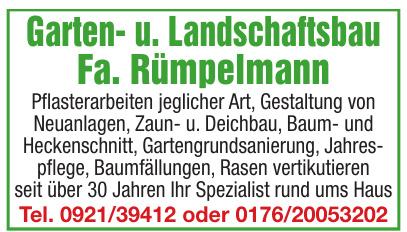 Garten- u. Landschaftsbau Fa. Rümpelmann
