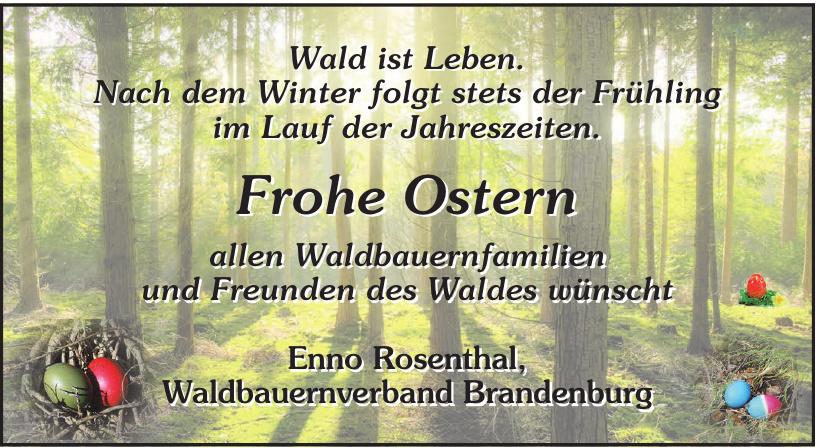 Enno Rosenthal, Waldbauernverband Brandenburg