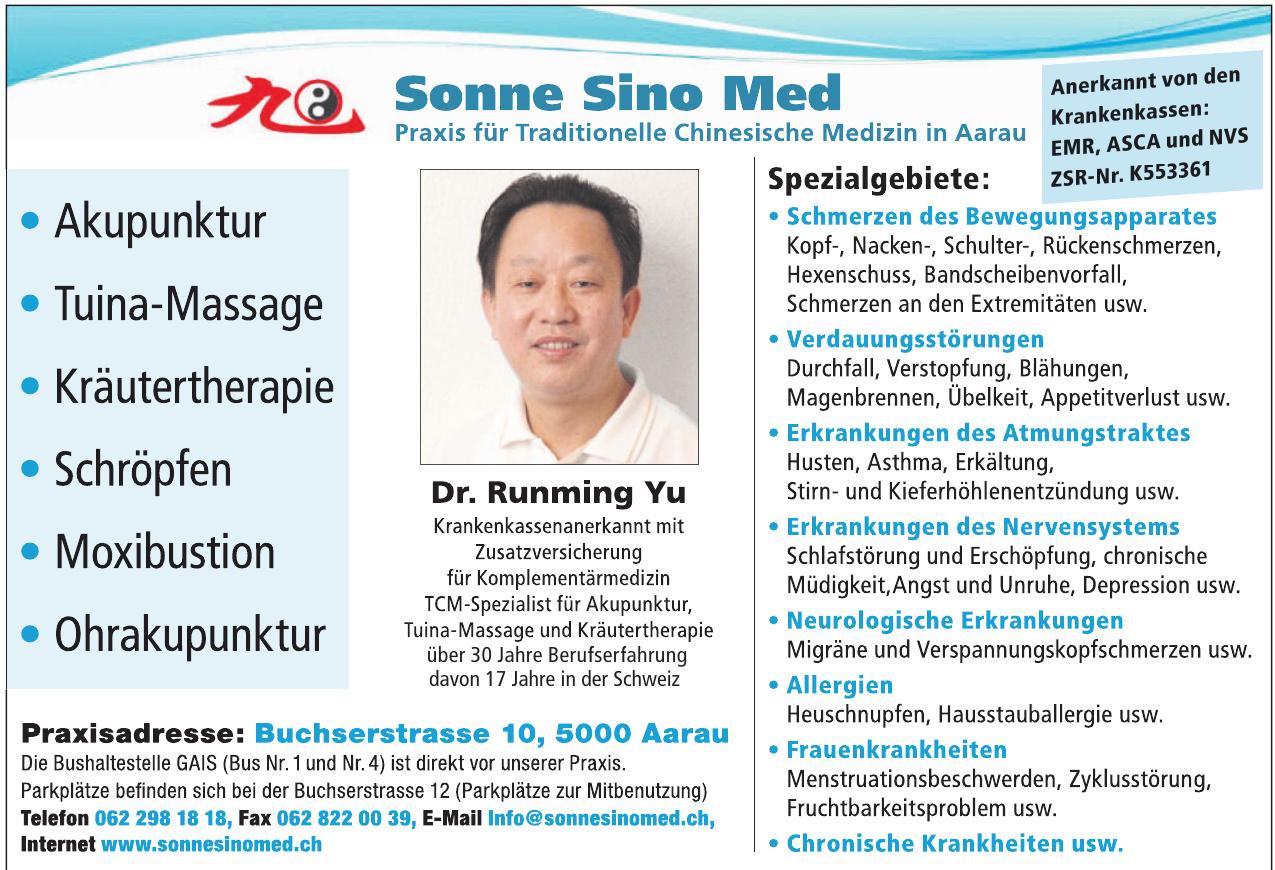 SonneSinoMed Praxis in Aarau