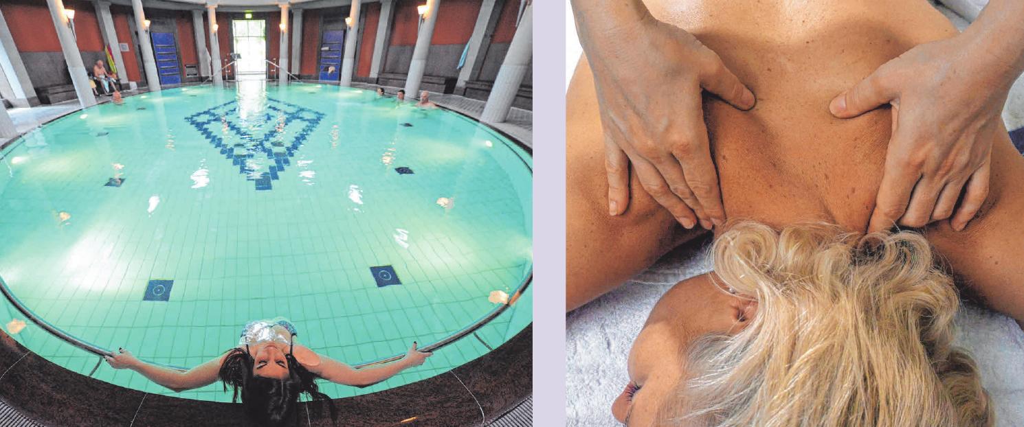 Der Besuch eines Thermalbads lässt sich optimal mit einer Massage kombinieren. FOTO: PATRICK SEEGER/DPA