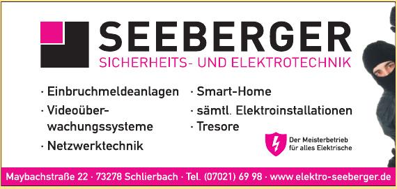 Seeberger Sicherheits- und Elektrotechnik