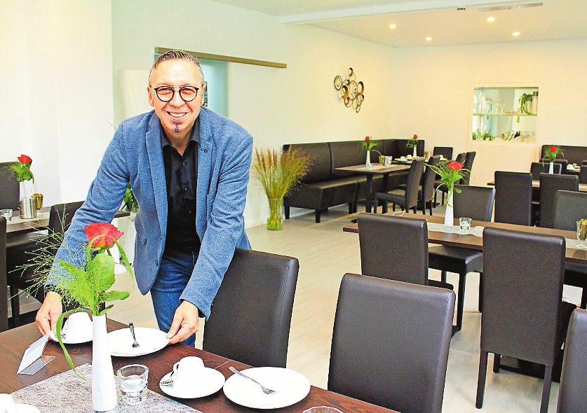 """Stilvoll: Im Café """"Pusteblume"""" können Trauergäste, aber auch andere Gruppen zusammenkommen. FOTO: MONIKA KLEIN"""