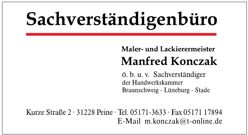 Sachverständigenbüro - Maler- und Lackierermeister Manfred Konczak