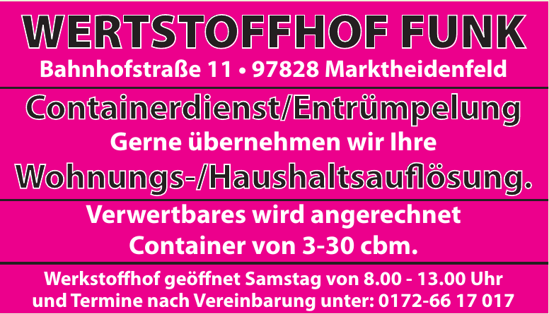 Wertstoffhof Funk