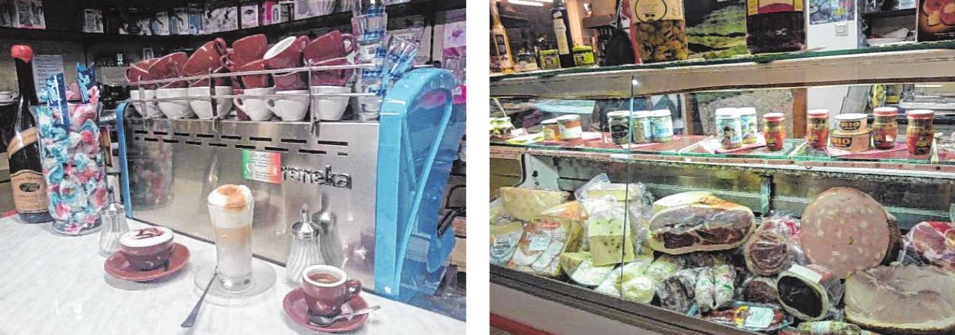 Sowohl frischen Kaffee als auch zahlreiche Wurstwaren können die Kunden bei De Maio genießen. BILDER: DE MAIO