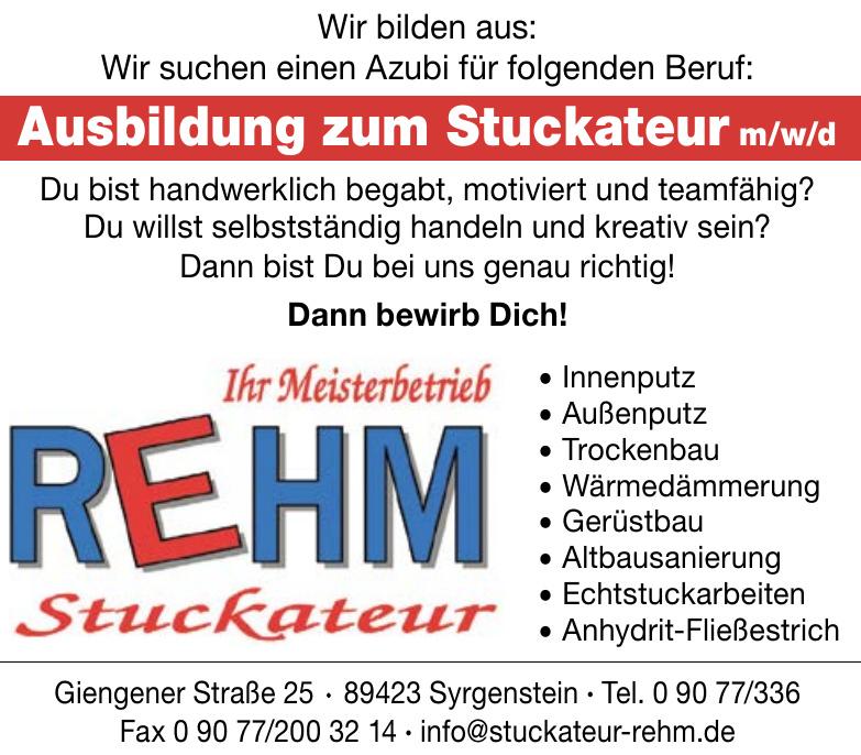 Rehm Stuckateur