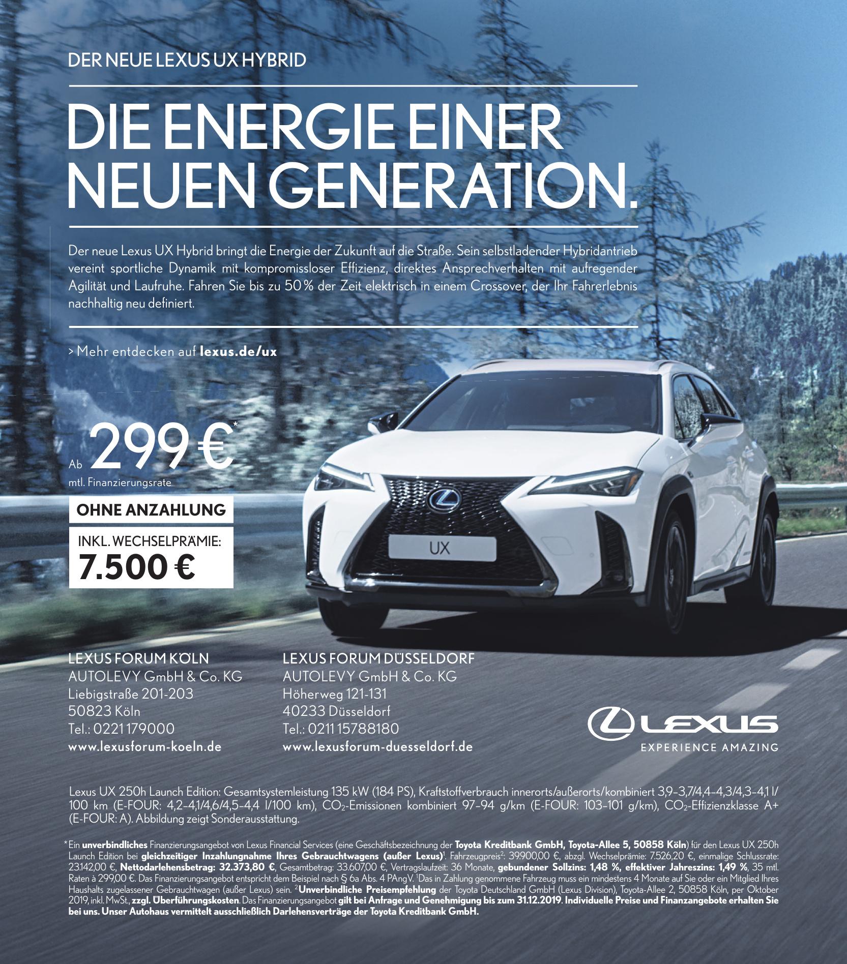 LEXUS Forumköln Autolevy GmbH & Co. KG