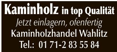 Kaminholzhandel Wahlitz