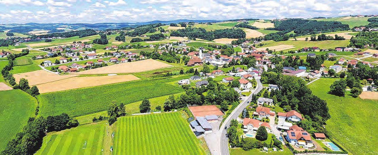 Enzenkirchen – ein schmucker Ort, umgeben von Natur und landwirtschaftlich genutzten Flächen Foto: Gem.Enzenkirchen