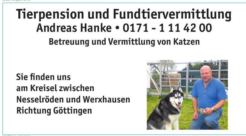 Tierpension und Fundtiervermittlung Andreas Hanke